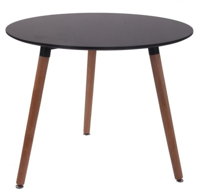 Eiffel Table With A Black Top