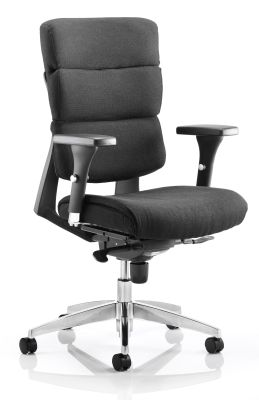 Alma Black Fabric Task Chair
