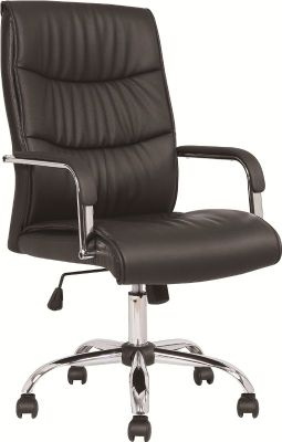 Moorland Black Leather Executive Chair