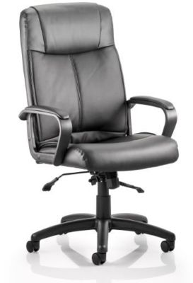 Roderigo Black Leathert Executive Chair
