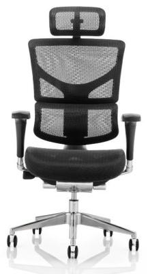 Ergo D Mesh Task Chair Headrest And Black Frame