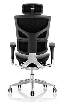 Ego D Black Ergonomic Chair Leather Rear View
