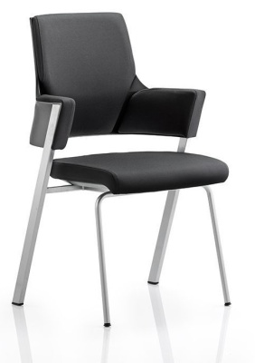 Starlight Black Fabric Conference Chair