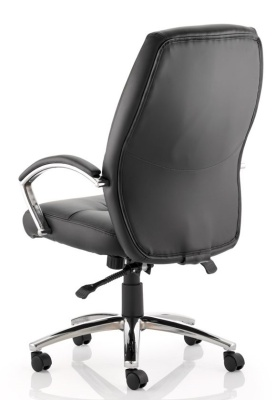 Oais High Back Black Leather Executive Chair Rear Shot