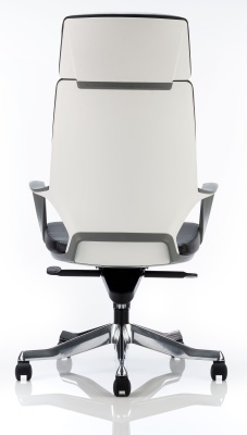 Carbon High Back Contemporary Executive Chair Rear View