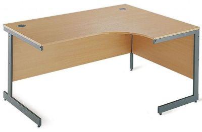 Maddellex Right Hand Corner Cantilever Desk In Beech