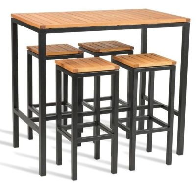 Chicago Outdoor Bar Height Dining Set