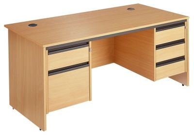 Maddellex Desk With Two Integeral Pedestals