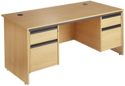 Maddellex Pedestal Desk With Two Sets Of Drawers