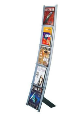 Prima Vista Magazine Display Holds 5 Different Brocures