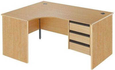 Maddellex Left Hand Corner Desk With Two Drawer Pedestal
