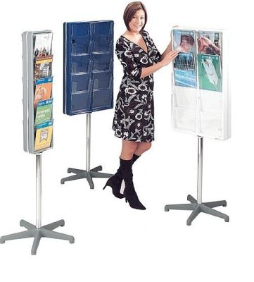 Two Sided Totem Leaflet Holders Either Single With Or Double