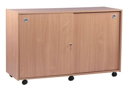 Classroom Multi Tray Storage Unit 2 With Lockable Sliding Doors