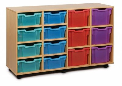 Coloured Classroom Multi Tray Storage Unit 2
