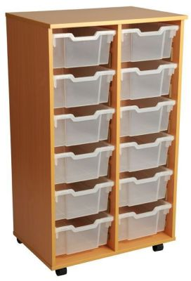 Aztec Double 6 High Deep Tray Classroom Storage Unit