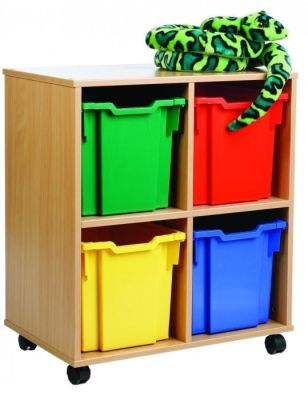 Mobile All Sorts Stackable With 4 Coloured Jumbo Trays