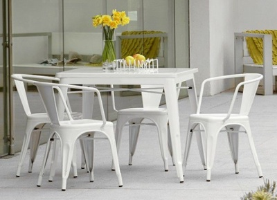 Tollix White Dining Set 4