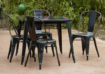 Tollix Black Outdoor Dining Set