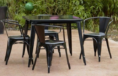 Tollix Outdoor Dining Set 6 In Black