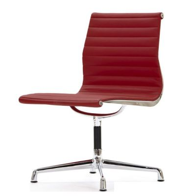 Aria Conference Chair No Arms Red Leather