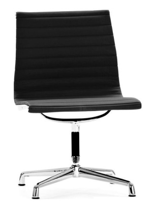 Aria Conference Swivel Chair Black Leather