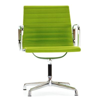Aria Designer Conference Chair With Arms In Green Leather