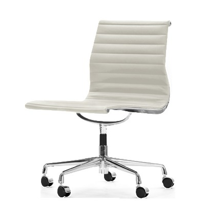 Aria Swvel Chair White Leather