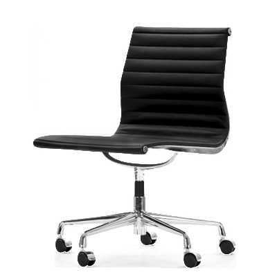 Aria Swivel Chair Black Leather