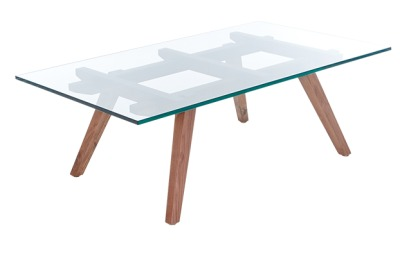 Ali Sticotti Coffee Table With Walnut Legs