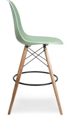 Eames Style High Stool Peppermint Seat Side View
