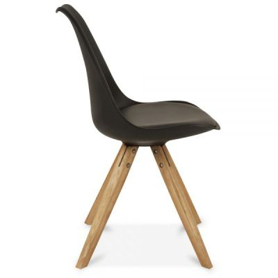 Pyramid Style Chair With A Black Seat Side Angle View