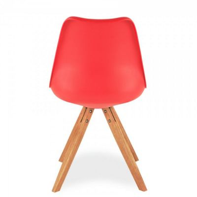 Pyramid Style Chair With A Red Seat Frnt Angle
