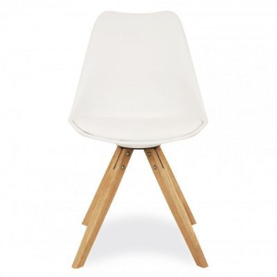 Pyramid Chair With A White Seat Front View