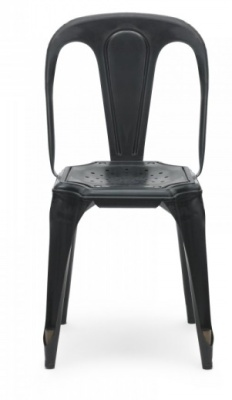 Les Meubles Vintage Chair In Black Front View