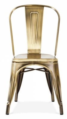 Tollix Side Chair Antique Copper Finish