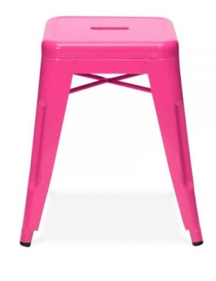 Xavier Low Stool In Pink