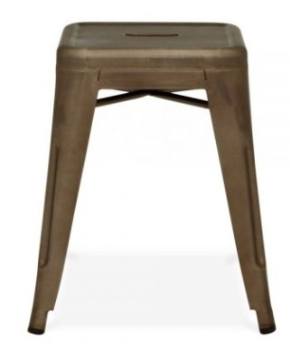 Xavier Low Stool Antique Gun Metal Finish