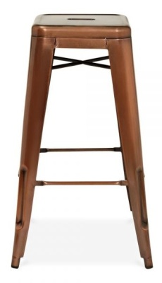 Xavier High Stool Antique Copper Finish