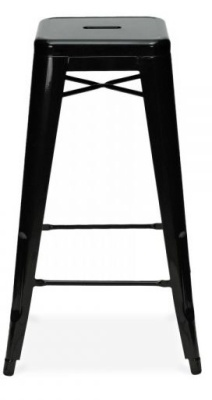 Xavier Metal High Stool Black Finish
