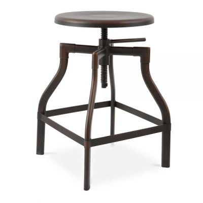 Industrial Turner High Stool Coffee Antique Rust Finish