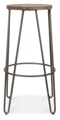 Hairpin Stool With An Antique Black Frame