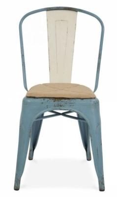 Xavier Pauchard Chair Light Blue Antique Finish