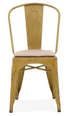 Xavier Pauchard Chair Distressed Yellow Finish