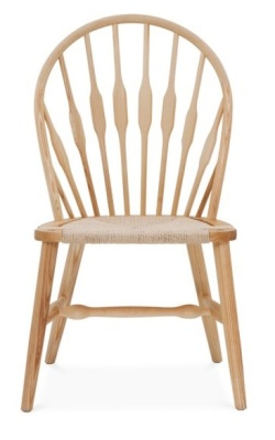 Peacock Side Chair Oak Finish