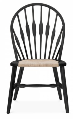 Peacock Chair Black Finish