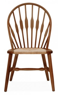 Peacock Chair Walnut Finish Front View