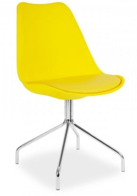 Lactro Poly Chair In Yellow Front Angle