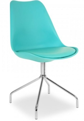 Lacro Poly Chair In Turquoise Front Angle