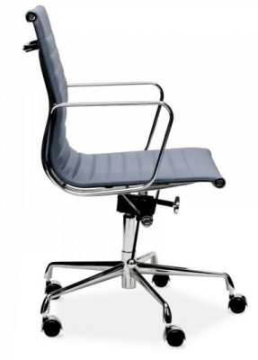 Eames Style Grey Leather Executive Chair