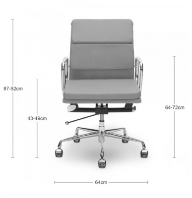 Eames Mid Back Soft Pad Dims